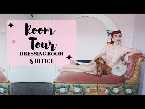 Download Vintage Dress Room & Office Tour with pinup Miss Lady Lace | My Vintage Home