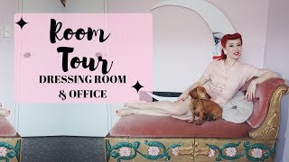 Vintage Dress Room & Office Tour with pinup Miss Lady Lace | My Vintage Home