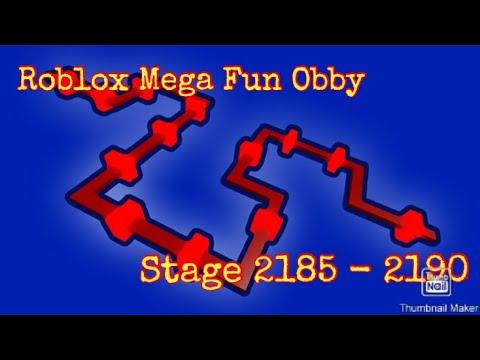 Roblox Mega Fun Obby Stage 2185 2190 Youtube