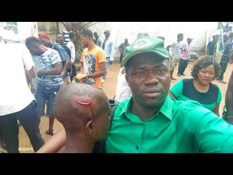 Sierra Leone Police And SLPP Supporters
