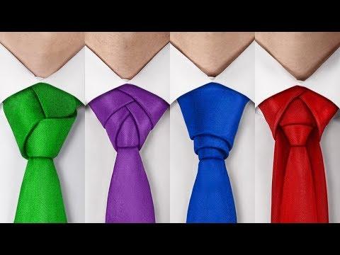 4 coole Möglichkeiten, eine Krawatte zu binden!