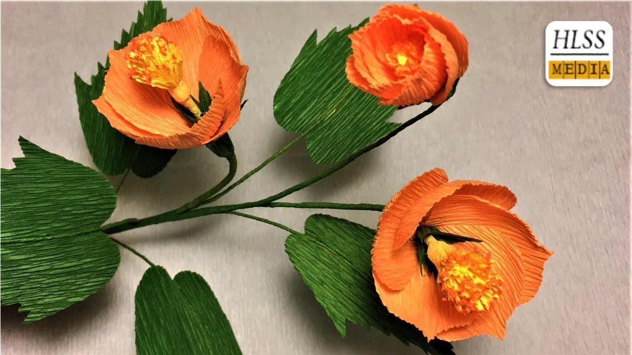 How To Make Vein Indian Mallow Paper Flower Diy Paper Flower Making