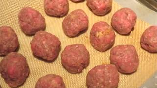 How To Make Homemade Italian Meatballs With Spaghetti Recipe - From Scratch (easy)