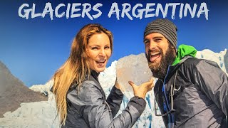 GLACIERS PERITO MORENO and SPEGAZZINI by BOAT / best drone footages OVERLANDING PATAGONIA