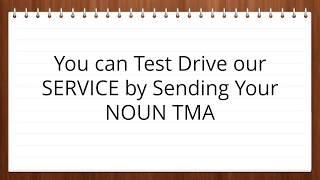 NOUN PORTAL TMA SOLUTION 2017  08064924692