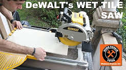 The DeWALT Wet Tile Saw (It's a BEAST)