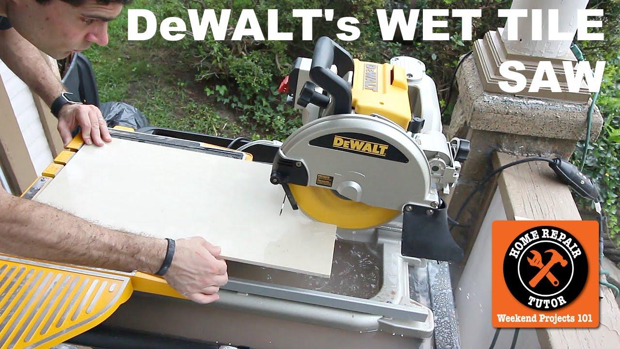 the dewalt wet tile saw it s a beast