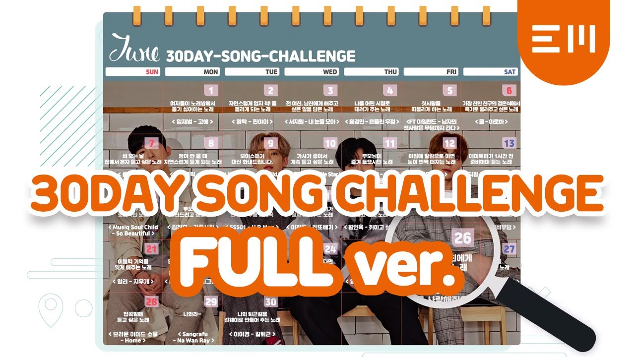 30-DAY SONG (with Harmony) Challenge (DAY 1~30)