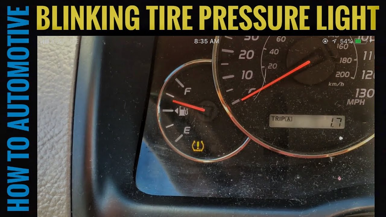 Toyota Tacoma Warning Lights Tire Pressure