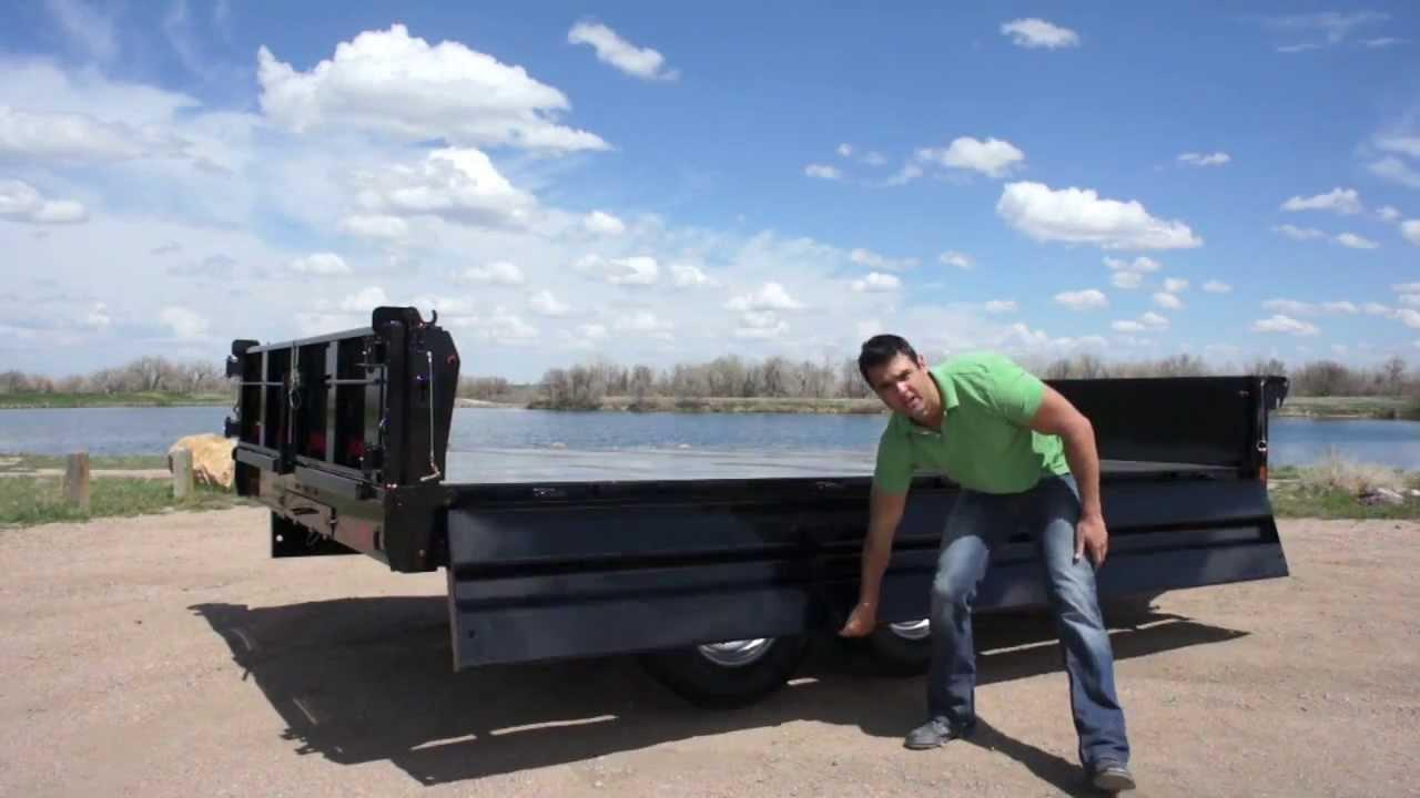 14 000lb Deckover Dump Trailer Youtube