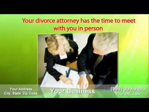 Thumbnail: Get this Divorce Lawyer video commercial customized for your business at myseoassistant.com