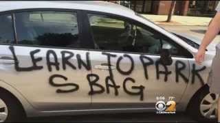 Vandal In Queens Spray Paints Cars Over Alleged Poor Parking