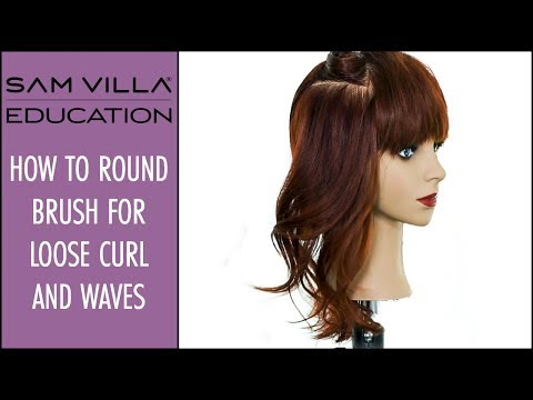 How to Round Brush for Loose Curl and Waves