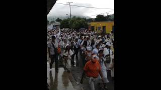 Marcha de indígenas en pueblo bello-cesar
