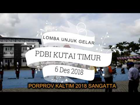 LUG PDBI KUTAI TIMUR PORPROV KALTIM VI SANGATTA 2018