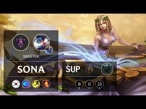 Sona Support vs Pyke - KR Master Patch 9.21