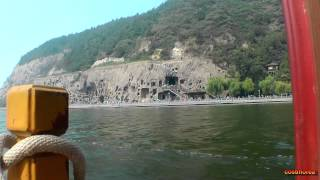 Yi River at Longmen Caves - Trip to China part 29 - Travel video full hd