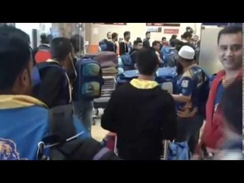 Karachi Kings Player departing Dubai for PSL