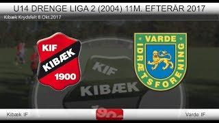 U14 drenge Fodbold Kibæk IF vs Varde IF 8 okt 2017