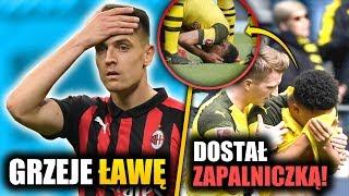 Krzysztof Piątek NIE ZAGRA! Dostał ZAPALNICZKĄ! Dramatyczny mecz Borussia - Schalke