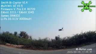 multiwii 2 4 bi copter my first succeed