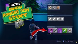 Comment bien ranger son inventaire sur Fortnite Battle Royale