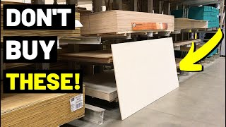 Don't Buy FULL PLYWOOD SHEETS If You Don't Need Them! TRY THIS...(Pre-Cut Plywood)