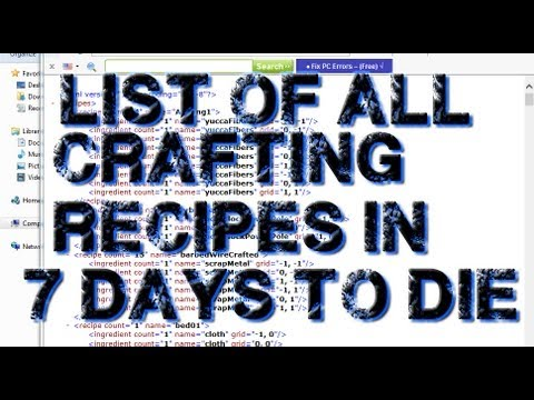 7 days to die crafting tutorial list of all crafting recipes in 7 days to die 5828