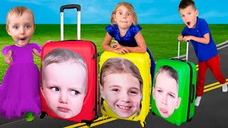 Five Kids Pack Your Suitcases Song + more Children's Songs and Videos