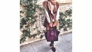 Winter Hijab Outfits 2017  ملابس شتوية للمحجبات / ملابس البرد