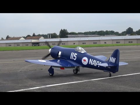 Huge Australian Royal Navy Hawker SeaFury 115/NW RC Warbird with a Moki S250 Radial Engine