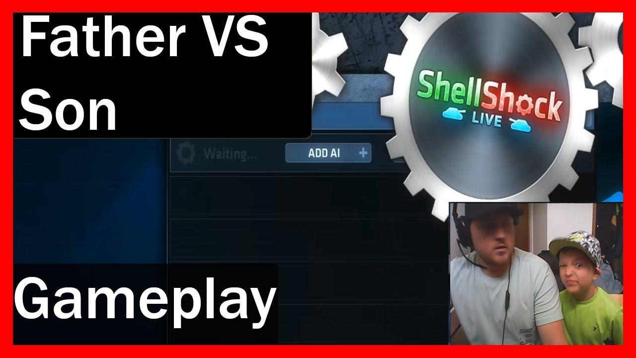 Shellshock Live Gameplay! Father VS. Son! - Kid Friendly Gaming!