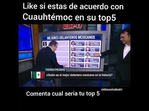 Para Cuauhtémoc Blanco Javier Hernández no entra en su top 5 de los mejores delanteros de México