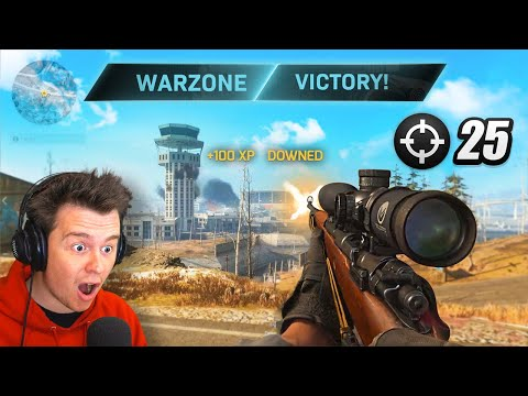 What happens when you get 25 KILLSTREAK In Warzone!