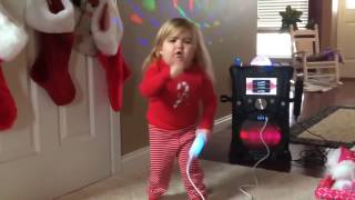 French cute toddler kid singing and dancing with a lovely English songs LOL