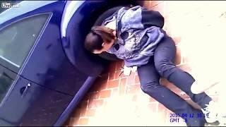 Cops break woman's leg