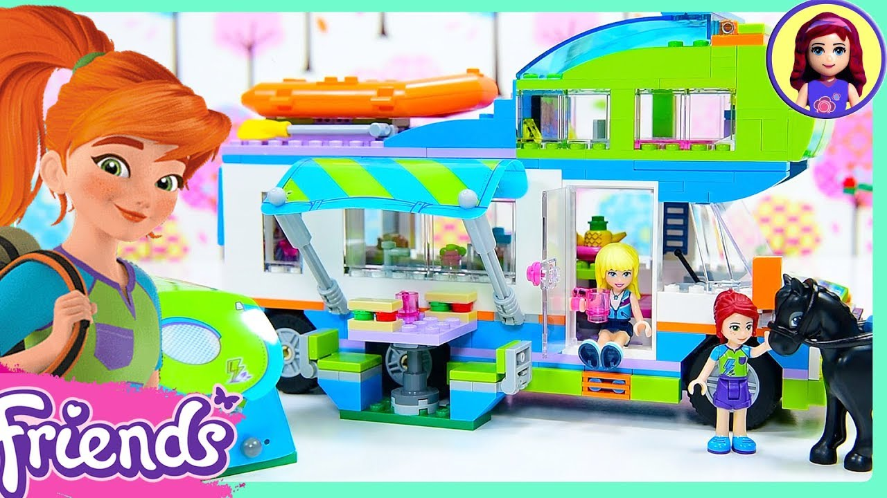 Lego Friends Mias Camper Van Build Silly Play Kids Toys Youtube