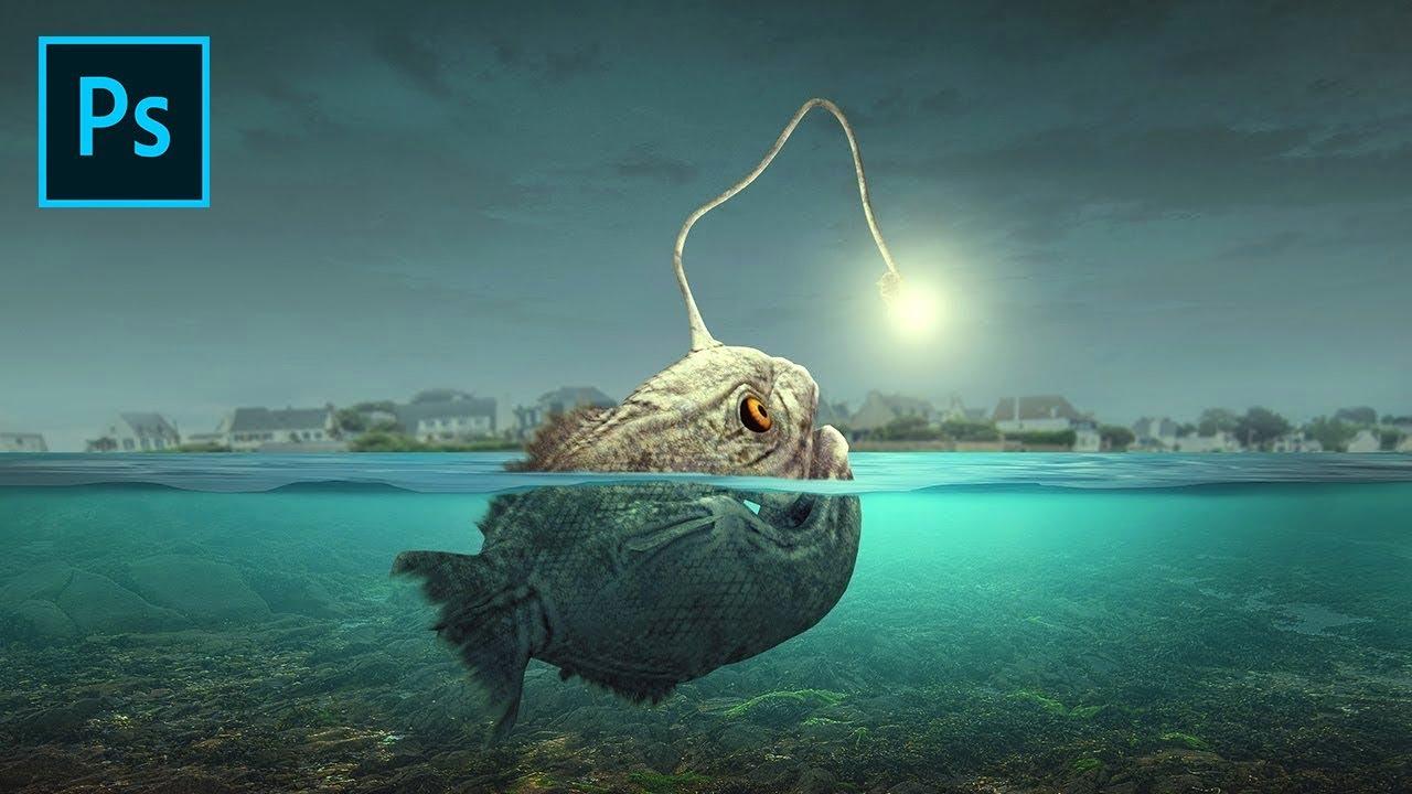 Photoshop Manipulation Tutorial - Angler Fish Light - YouTube for Anglerfish Light  61obs