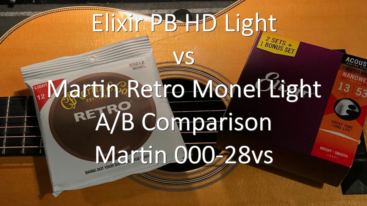 elixir pb hd 39 s vs martin retro monel light youtube. Black Bedroom Furniture Sets. Home Design Ideas