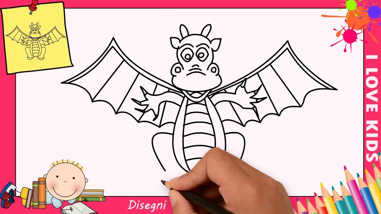 Come Disegnare Un Drago Facile Passo Per Passo Per Bambini