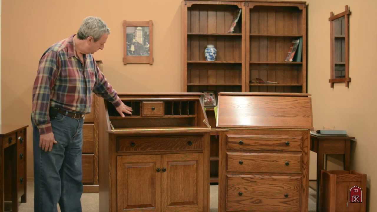 Barn Furniture Amish Secretary Desks Youtube