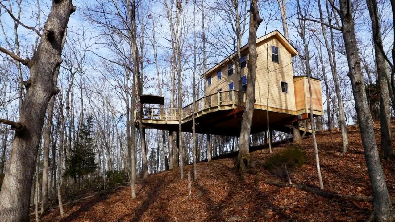 treehouse masters behind the build kentucky climbers cottage treehouse masters