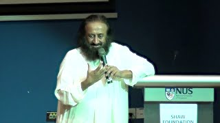 Beyond the Rat Race: Interaction with Sri Sri at NUS