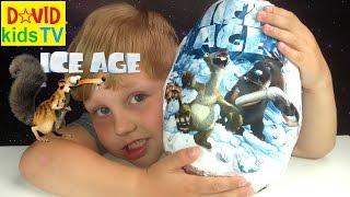 ►Большое яйцо ICE AGE Kinder Joy с сюпризами Ледниковый Период 5