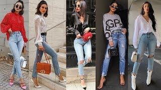 Mas De 50 Ideas De Looks Con Pantalones Jeans De Moda Y Tendencia 2019 2020 Youtube