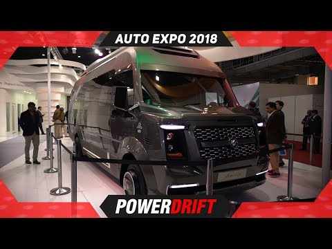Pinnacle Finetza : A Luxury Home on Wheels @ Auto Expo 2018 : PowerDrift