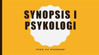 Synopsis Psykologi B