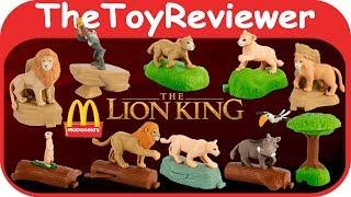 2019 Король Лев Макдональдс Хеппі Міл повний набір 10 розпакування іграшки огляд TheToyReviewer