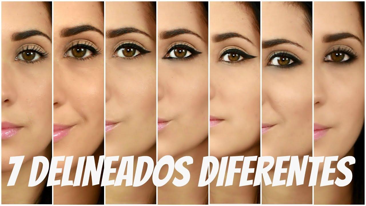 Como delinear tus ojos 7 formas diferentes youtube for Distintas formas de maquillarse los ojos
