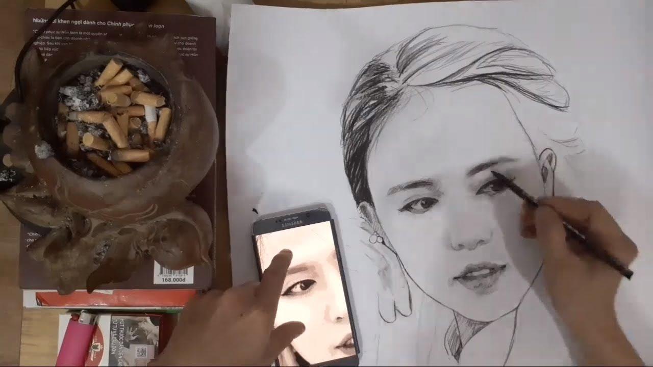 Học Vẽ,Học Vẽ Online,vẽ Tranh Cô Gái Áo Dài,Phần 1